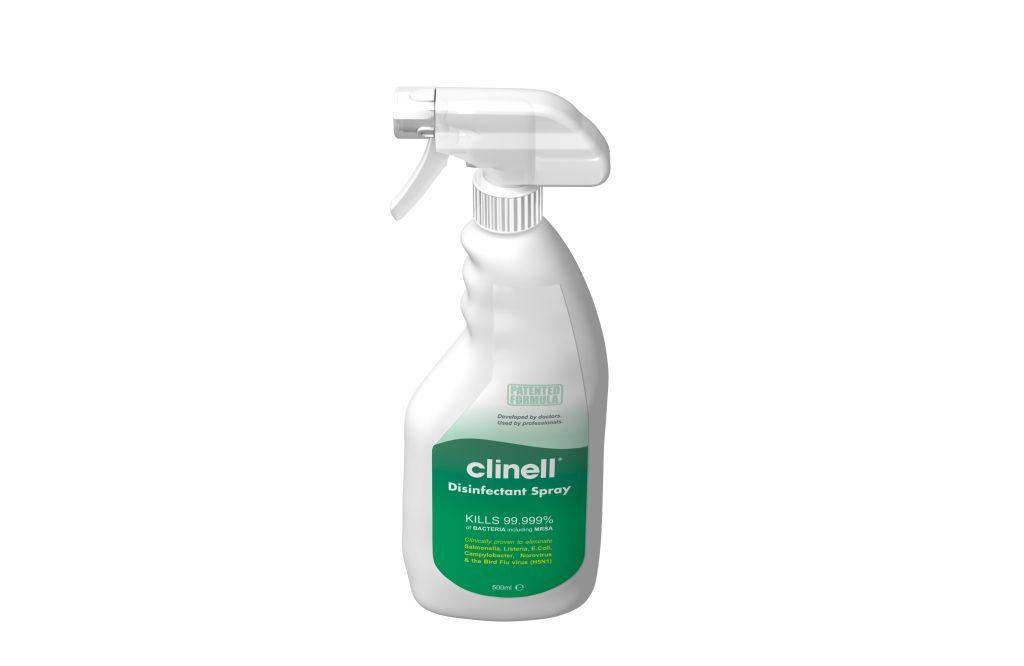 clinel  Oppervlakteontsmetting : Clinell Ontsmettingsspray 500 ml